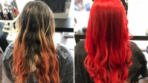 Vorher Nachher Typveränderung rote Haare