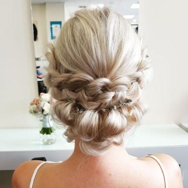Brautfrisur, Hochzeitsfrisur Hochsteckseminar Frisur
